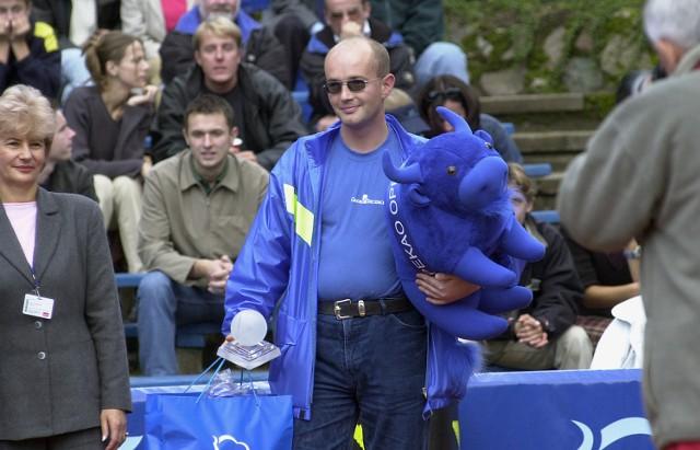 Redaktor Jacek Taczalski przed dwoma laty wygrał turniej tenisowy dziennikarzy organizowany przy okazji międzynarodowej imprezy PEKAO OPEN.