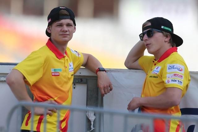 Damian Dróżdż (z lewej) potwierdził, że dobrze czuje się na Stadionie Olimpijskim. W zawodach juniorów zdobył dziesięć punktów i dwa bonusy