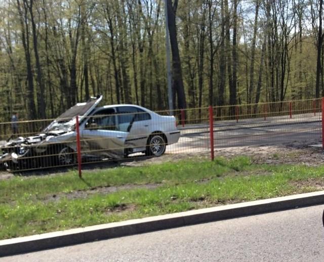 Wypadek BMW na ul. Zwierzynieckiej