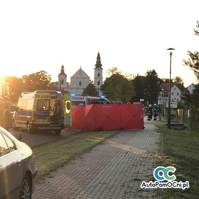 W Leśnej Podlaskiej na ul. Bialskiej doszło do pożaru motoparalotni
