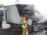 Pożar samochodu dostawczego przy Koronie (ZDJĘCIA)