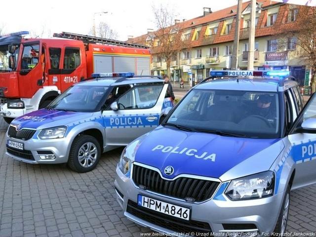Policja i straż pożarna w Bielsku Podlaskim dostały nowe pojazdy