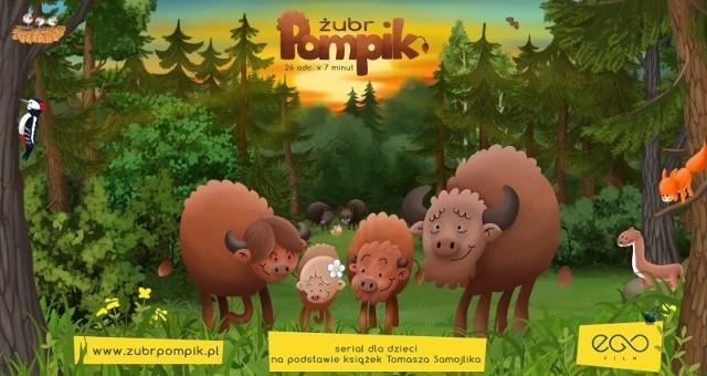 W animowanym serialu zobaczymy perypetie małego żubra Pompika, ale też jego siostry Polinki i rodziców. Wkrótce ruszy strona zubrpompik.pl. na której pojawią się ciekawostki związane z żubrami.