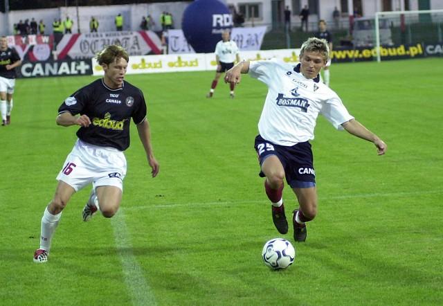 Krzysztof Michalski (z prawej) zdobył pierwszą bramkę dla Pogoni.