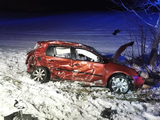 Groźny wypadek w okolicach miejscowości Buślary.
