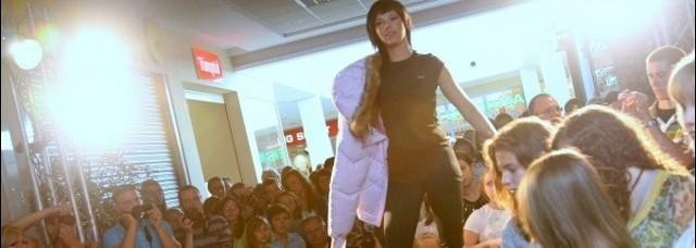 Ubrania prezentowały modelki z ostrołęckiej agencji