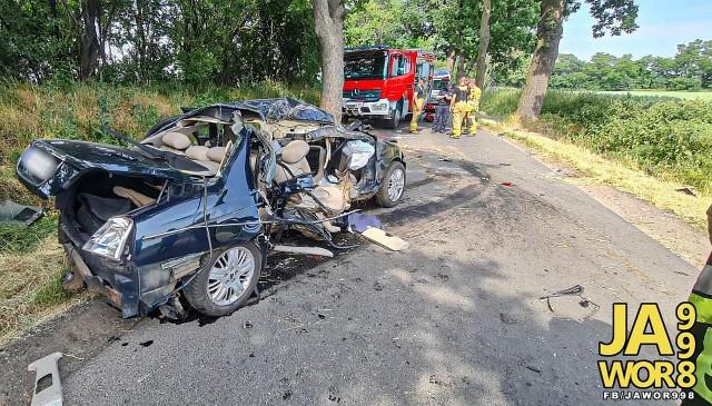 Groźny wypadek na lokalnej drodze z Jawora do Myśliborza