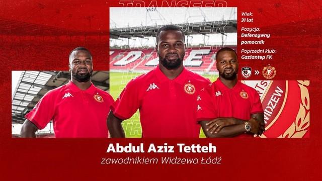 Abdul Aziz Tetteh podpisał umowę z Widzewem