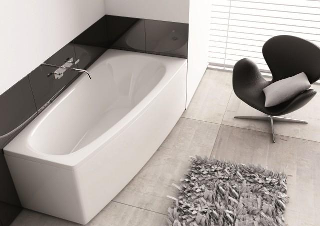 Wanna asymetryczna SimiWanny asymetryczne pozwalają optymalnie wykorzystać miejsce w niewielkich łazienkach, w których liczy się każdy dodatkowy centymetr powierzchni.