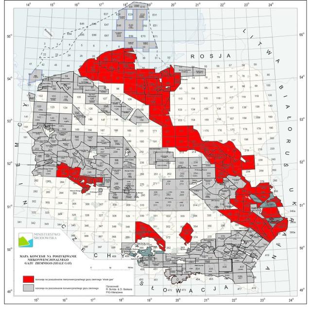 Koncesję na prowadzenie prac badawczych związanych z oszczacowaniem wielkości pokładów na terenie powiatu opatowskiego otrzymała spółka Chevron Polska, a ostrowieckiego – DPV Service.