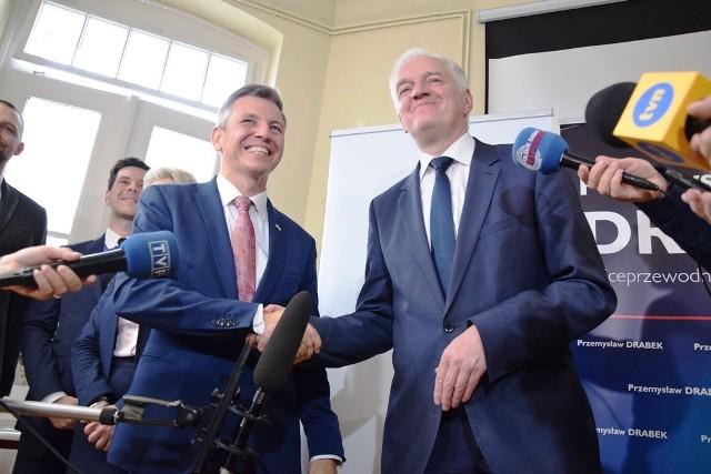 Jarosław Gowin w Bielsku-Białej poparł Przemysława Drabka