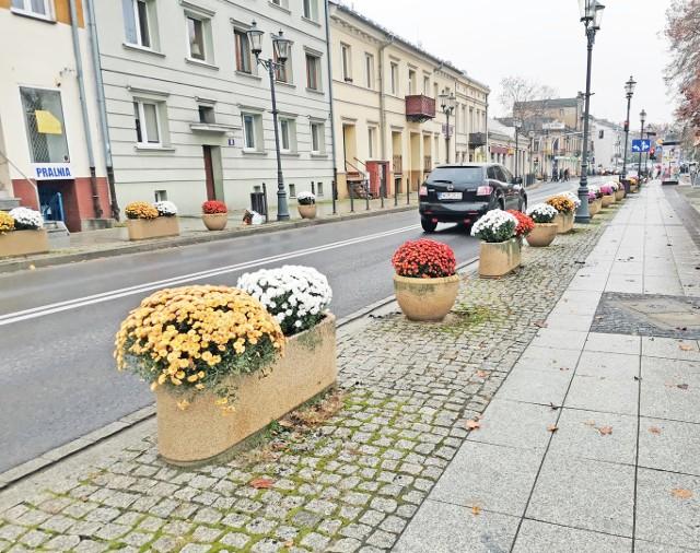 Zakład Gospodarki Komunalnej w Grójcu zakupił kwiaty od lokalnych producentów. Teraz zdobią one centrum miasta.