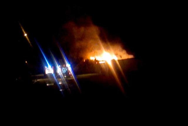 Pożar w Liszkowie w gminie Borne Sulinowo.
