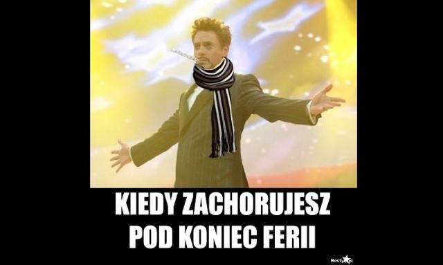 Niedziela, 9 lutego to ostatni dzień ferii zimowych dla uczniów z Wielkopolski. Co czują na myśl o powrocie do szkoły, najlepiej pokazują memy i demotywatory. Zobacz w galerii te najlepsze ---->