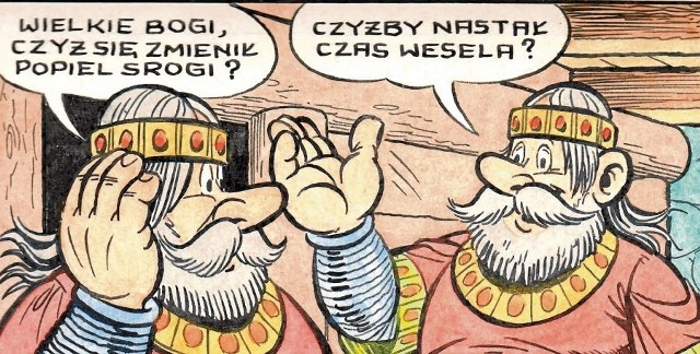 Pojedynczy pasek o słynnych przygodach Kajtka i Majtka to koszt rzędu 400 zł .