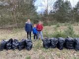 Szczecin. Świetna postawa mieszkańców. Podczas spaceru posprzątali las