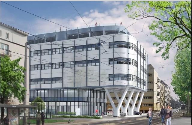 Innowacyjny budynek przy ul. Strzeleckiej będzie połączony z istniejącą zabudową poprzez budynek centralnego bloku operacyjnego