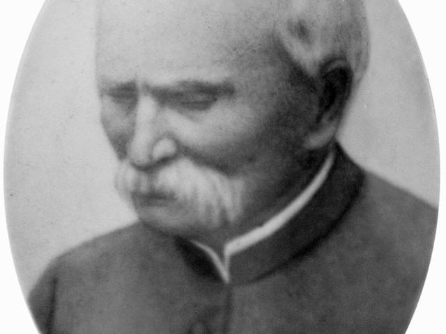 Portret Romualda Lenczewskiego z pamiątkowej tablicy znajdującej się w kościele parafialnym w Dobrzyniewie