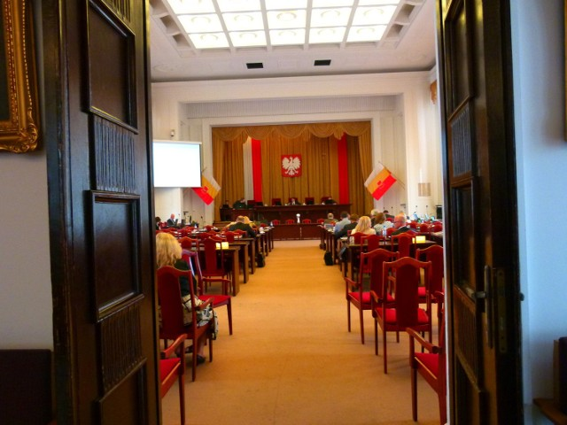Sesja Rady Miejskiej w Łodzi.