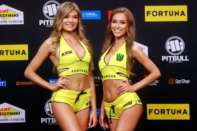 KSW ring girls - Weronika Walenciak (z lewej) i Katarzyna Motloch