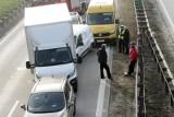 Dwa wypadki na autostradzie A4. Droga była zablokowana