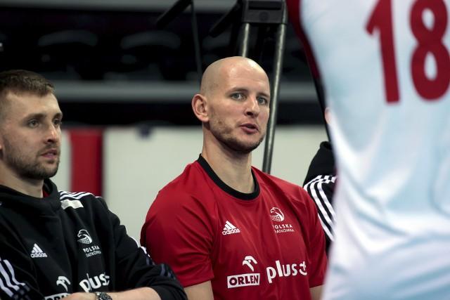 Bartosz Kurek zagrał na luzie dwa pierwsze sety w piątkowym meczu, a później odpoczywał