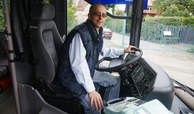 Daniel Szukalski, wicemistrz Polski kierowców autobusów, na co dzień jeździ dla Bydgoszczy