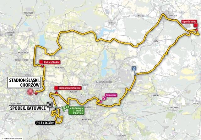 Tour de Pologne 2020 - mapa pierwszego etapu