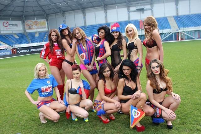 Piast Gliwice kalendarz 2014 - piękne modelki