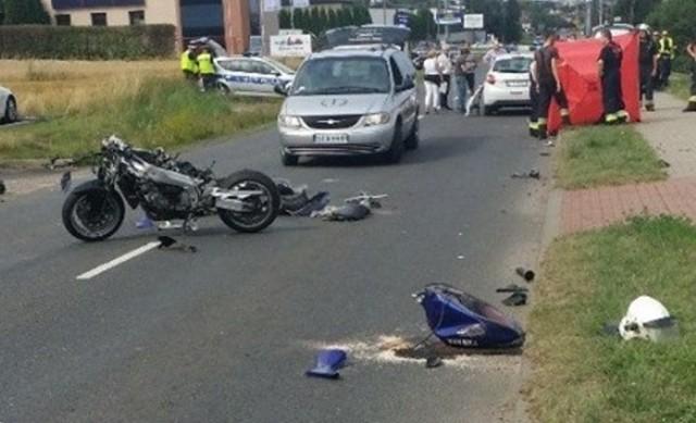 Wypadek policjanta w Świerklańcu