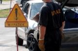 Zderzenie dwóch pojazdów ciężarowych w Torzymiu. Kierowcy muszą uważać. Droga zaczyna się korkować
