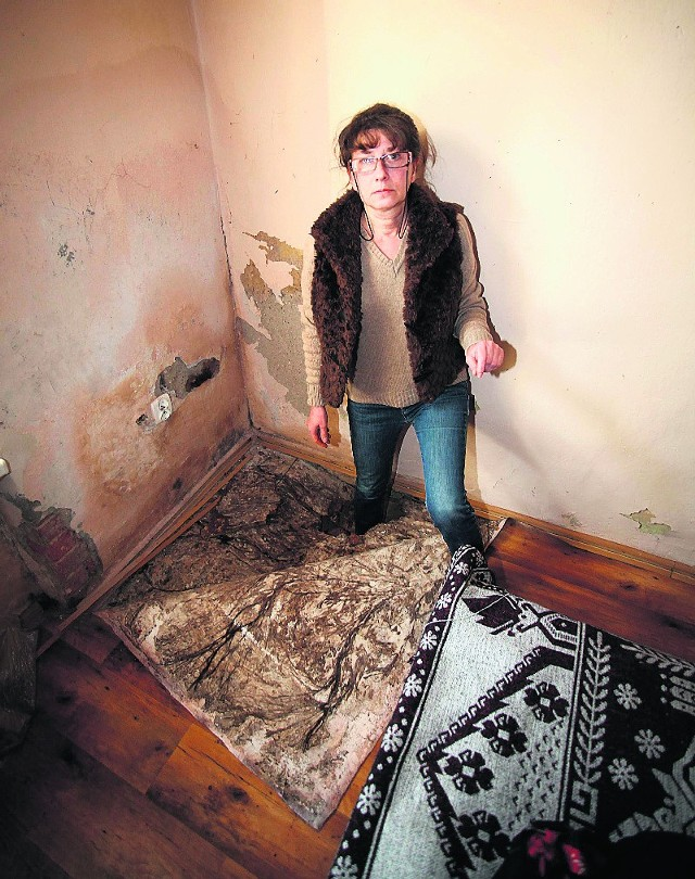 Tak głębokie dziury w swoim mieszkaniu przy ul. Kilińskiego ma łodzianka.