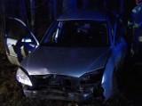 Rybniki. Groźny wypadek na DK 8. Auto w rowie, dwie osoby ranne [ZDJĘCIA]