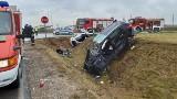Moczydły. Śmiertelny wypadek. Z zderzeniu samochodów zginęła 49-letnia kobieta (zdjęcia) [01.10.2019]