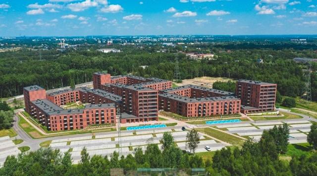 Tak wygląda osiedle Nowy Nikiszowiec w Katowicach z góry
