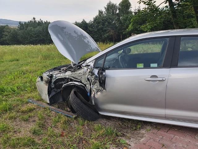 Wypadek w Kochanowie na drodze krajowej nr 79