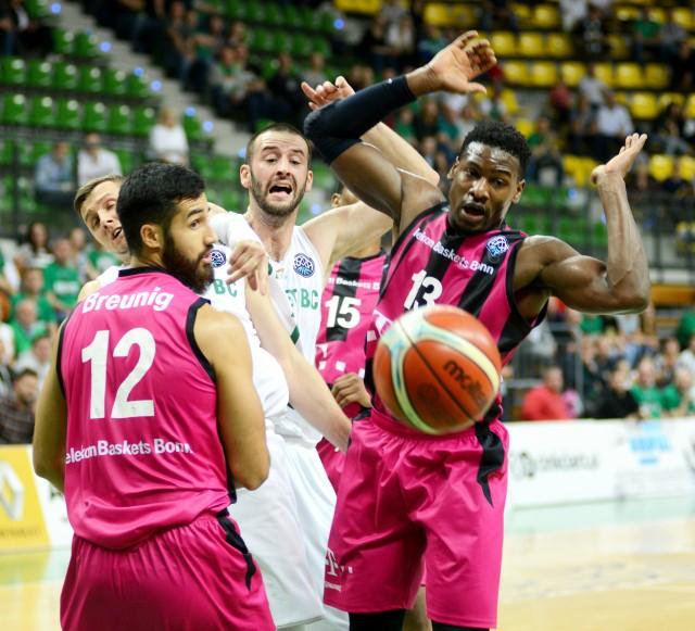 Boris Savovic i Przemysław Zamojski walczą z rywalami w pierwszym  meczu w Zielonej Górze. Jak będzie w Bonn?