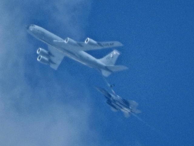Siły Powietrzne USA ćwiczyły tankowanie w powietrzu