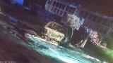 Pożar samochodu w Buchałowie. Mieszkańcy próbowali zgasić pojazd na własną rękę. Niestety pojazd spłonął doszczętnie