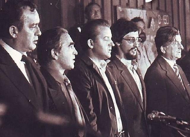 Podpisanie porozumień w Stoczni Szczecińskiej im. Adolfa Warskiego. 30 sierpnia 1980 r.