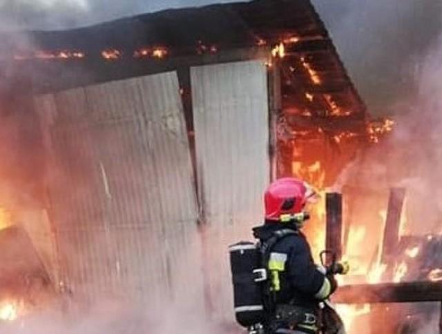 Pożar wybuchł 21 marca w Zielonej Górze Zatoniu. Strawił warsztat samochodowy wraz z wyposażeniem, uszkodził dom państwa Gleisnerów.