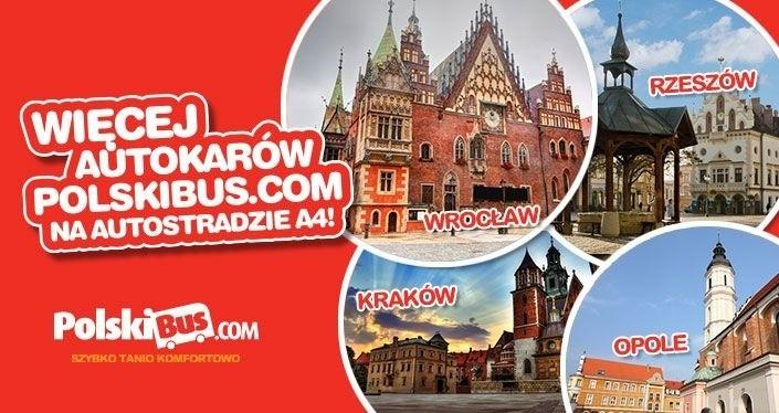 PolskiBus.com. Nowe kursy pomiędzy Wrocławiem, Opolem,...