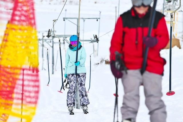 Stacja narciarska Snow and Ski Machnice pod Wrocławiem.