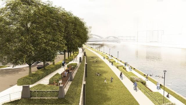 Miasto stworzyło koncepcję nowego zagospodarowania bulwarów wiślanych. Uwagi można zgłaszać do 12 marca.