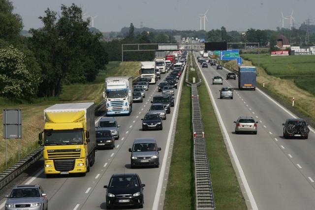 Utrudnienia na autostradzie A4 w rejonie Legnicy