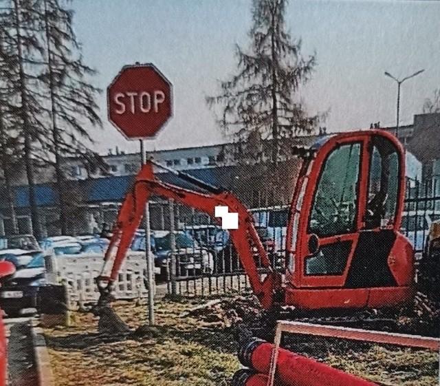 Minikoparkę w Jastrzębiu skradziono pod osłoną nocy!