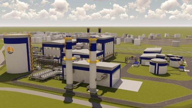 Model 3D nowej elektrociepłowni w Siechnicach