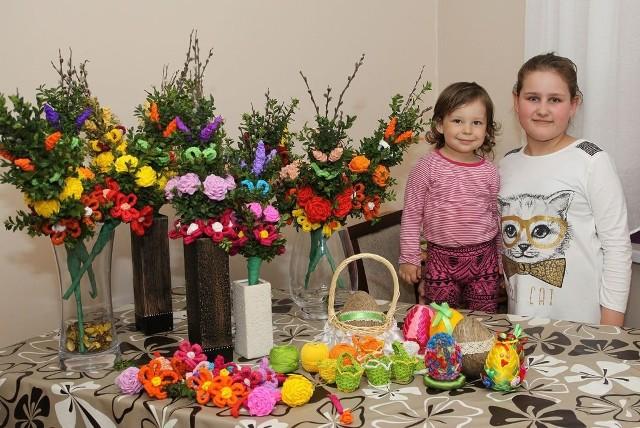 To tylko część świątecznych ozdób przygotowanych przez mieszkanki Zalesia Grzyckiego