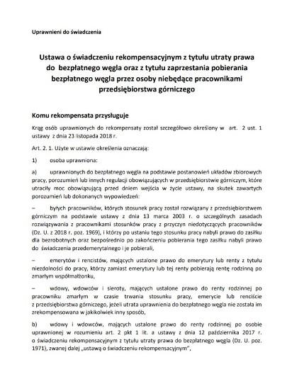 Utracony Deputat Węglowy Można Składać Wnioski O Rekompensatę