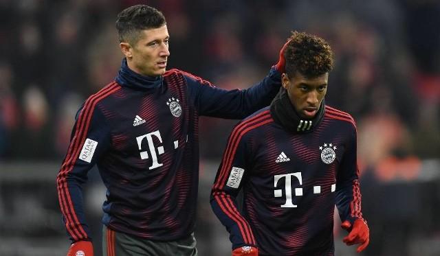 Na zdjęciu: Robert Lewandowski i Kingsley Coman. Mecz RB Lipsk - Bayern Monachium. Wynik meczu. Bayern Monachium zremisował bezbramkowo z RB Lipsk na wyjeździe. Zobacz wynik meczu RB Lipsk - Bayern Monachium.